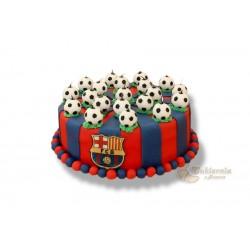 Tort z motywem FC Barcelony