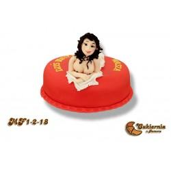 Tort z figurką kobiety