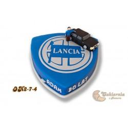 Tort z logo samochodu Lancia (z figurką)