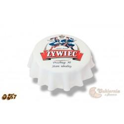 Tort w kształcie kapsla od piwa