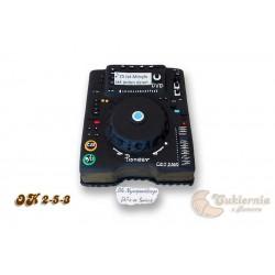 Tort dla DJ-a w kształcie miksera audio
