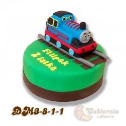 Tort z figurką lokomotywy Tomek