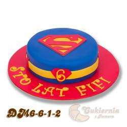 Tort z logo Supermana