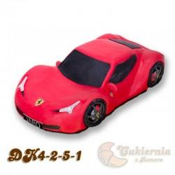 Tort w kształcie samochodu Ferrari