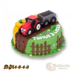 Tort z figurką traktora