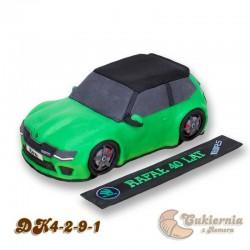 Tort w kształcie samochodu Skoda Fabia VR