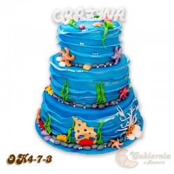 Tort z motywem morza