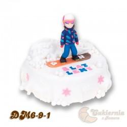Tort z figurką snowboardzistki