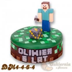 "Tort z figurką Steve'a z gry ""Minecraft"""