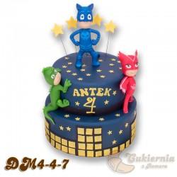 Tort z figurkami Pidżamersów