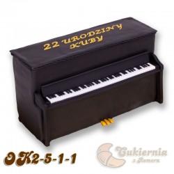 Tort w kształcie pianina