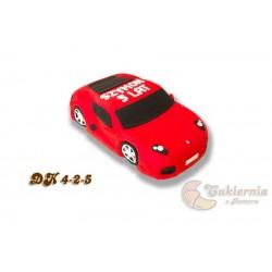 Tort czerwony samochód
