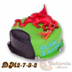 Tort z figurką smoka