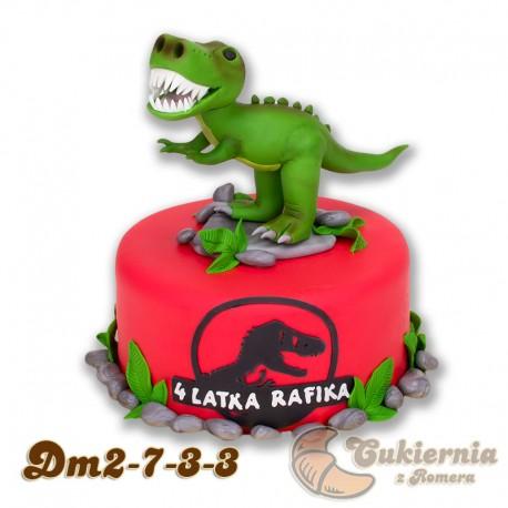 Tort z figurką dinozaura