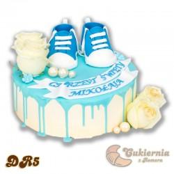 """Tort na chrzest święty w stylu """"drip cake"""""""