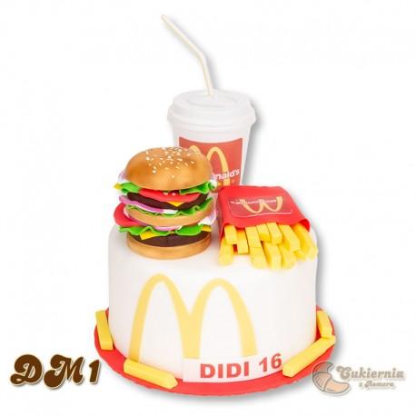 Tort z motywem McDonalds