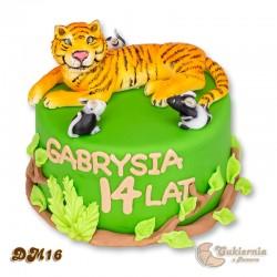 Tort z figurką tygrysa bengalskiego