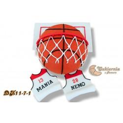 Tort w kształcie piłki do koszykówki